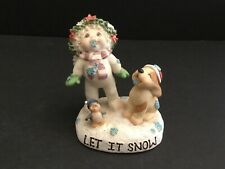 "Dreamsicles "" Catch A Snowflake� Figurine w/Puppy & Penguin 1999"