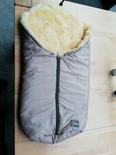 Fillikid Baby Fußsack echtes australisches Lammfell Hellbraun wie neu