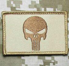 PUNISHER SKULL DESERT USA MILITARY TACTICAL VELCRO® BRAND FASTENER MORALE PATCH