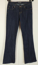 "Seven Jeans 28 Dark Blue Wash Flare Low Rise Waist 30"" Inseam 33"" New"