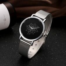 LVPAI Womens Ladies Watches Rose Gold Silver Dial Mesh Band Quartz Wrist Watch