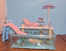 Barbie Happy Family Splash N Slide Pool Includes all Original Accessories