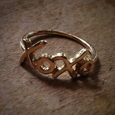 XOXO Knuckle Ring 18K GOLD Plated - Size: 6.75  Love Sweethearts Hugs Kisses