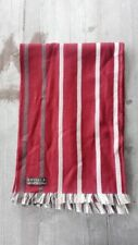 Amicale 100% Merino Wool Striped Scarf – Wine Red and Brown - Reversible