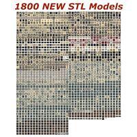1800 NEW 3d STL Models for CNC - Compatible with Artcam Aspire Cut3d 3d-Printers