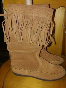 Rampage Fringe Boots 8 1/2 women