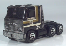 1989 Buddy L Mack Police Department 23 Semi Truck Tractor Toy