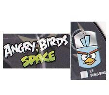 ANGRY BIRDS SPACE - 4/20 ICE BOMB BIRD DOG TAG + MINI STICKER SHEET & CHECKLIST
