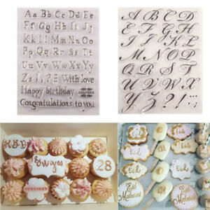 Letter Alphabet Cookie Cutter Embosser Stamp Sticky Decorating Fondant Tools