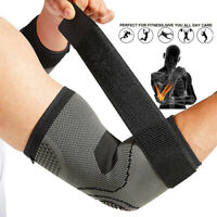 US Elbow Brace Compression Support Sleeve Arthritis Tendonitis Reduce Joint Pain