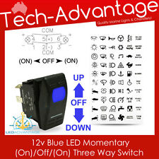 12V BOAT MOMENTARY (ON)/OFF/(ON) TRIM TAB ANCHOR WINCH WINDOWS LED ROCKER SWITCH