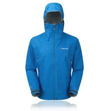Cappotti e giacche da uomo blu con cappuccio impermeabili