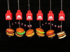 Bandai Mos Burger Miniature keychain Gashapon Figure (full set of 6 figures)