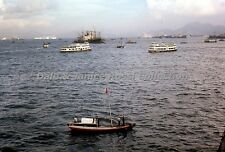 HK337 35mm Slide 1966 Pilot Boats in Harbor, Hong Kong China Ektachrome