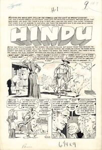 "EC Comics PANIC #4 ""Hindu"" Page 1 - Original comic art by Wally Wood!"