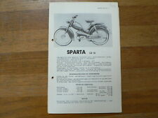 SPARTA GB 50  1955 ONWARDS SERVICE AND REPAIR GUIDE MOFA  BROMFIETS MOPED