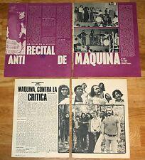 MAQUINA coleccion prensa 1970s fotos revista articulos pop español
