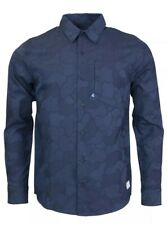 Adidas Gonz Camo Woven Mens Shirt Navy Blue Camouflage Small Free Delivery
