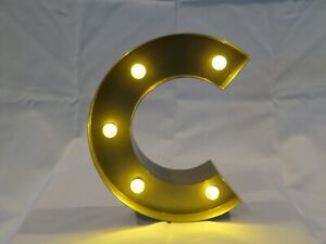 "8"" LED Letter ""C"" Lights for décor."