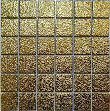 Keramikmosaik Mosaikfliesen Uni Gold Gehämmert Fliesenspiegel Küche | 10 Matten