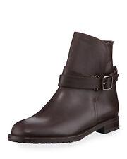 Manolo Blahnik Sulgamba Leather Ankle Boots.  Size 35 US 5 $995