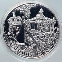 2002 CANADA British Queen Elizabeth II 50TH CORONATION SILVER Dollar Coin i86242