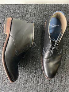 $300 Oliver Sweeney Waddell Black Calf Leather Chukka Boot Desert UK 6 US 7