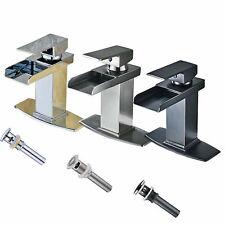 Bwe Waterfall Single Handle Bathroom Sink Faucet Vanity Lavatory Countertop Tap