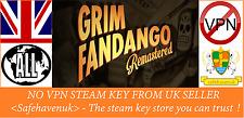 Grim FANDANGO REMASTERED Vapor clave no VPN región libre de Reino Unido Vendedor