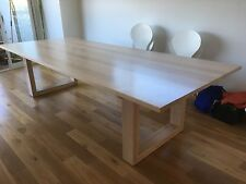 Australian Made Tasmanian Oak Hardwood Timber Mosman+ Dining Table 3000w 10 Seat