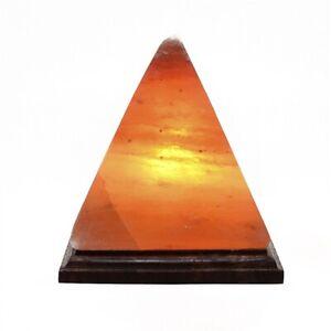 HIMALAYAN PINK SALT BIG PYRAMID TRIANGLE SHAPE CRYSTAL ROCK IONIZING LAMP