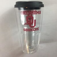 Oklahoma Sooners Tumbler Mug Coffee Drink Cup USA Made 24oz Insulated Thermoserv