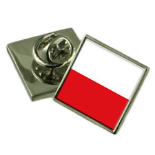 Poland Flag Lapel Pin Badge Solid Silver 925