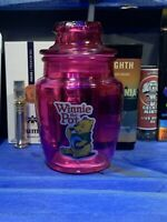 Winnie The Pot Round  Pink Glass Stash Jar Apothecary Script Weed Smell Proof