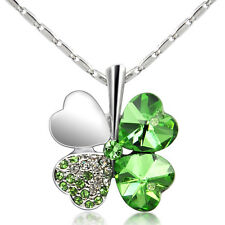 Necklace & Irish Shamrock Pendant Charm Saint St Patricks Day Gift 3 Leaf Clover