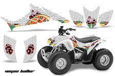 ATV Graphics Kit Quad Decal Sticker Wrap For Honda TRX90 2006-2018 VEGAS WHITE