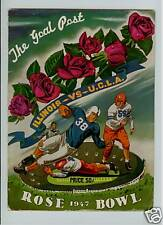 "1947 ROSE BOWL PROGRAM ILLINOIS vs UCLA ""THE GOAL POST"""