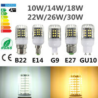 Dimmable E27 E14 B22 G9 GU10 2835 10/14/18/22/26/30W LED Corn Lights Bulb Lamp