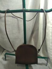 COACH #9017 VINTAGE SMALL BROWN LEATHER ABBIE CROSSBODY/SHOULDER HANDBAG GOOD
