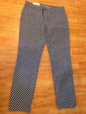 NWT Gap Skinny Khaki Pants Navy with White Pattern Slim City Size 0 Reg