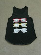Sunglasses Print Girl Women's t Shirt Tank Top Blackuk stock