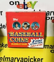 1987 TOPPS BASEBALL COINS Unopened Box Pulled From Case