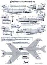 Berna Decals 1/48 DASSAULT SUPER MYSTERE B2 Fighter Part 1