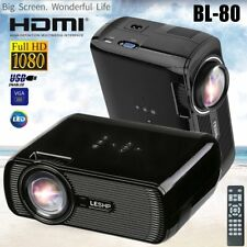 7000 Lúmenes LED HD 1080P Mini Portátil Proyector Cine Home Theater Multimedia