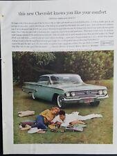 1960 Chevrolet Bel air Sport coupe car color vintage ad