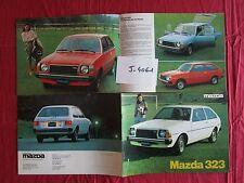 J.4061  / MAZDA 323 : catalogue texte français 1978