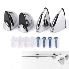 4pcs Soportes balda pelícano fijo para vidrio Chrome Metal Shelf Brackets Glass