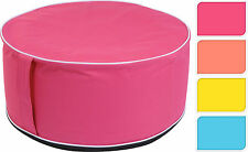 Inflatable Pouffe Footstool Inflatable Seat Stool Table Choice of 4 Colours Pink - 170422540