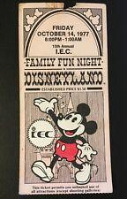 1977 Disneyland Family Fun Night Ticket - I.E.C. Disneyana Theme Park