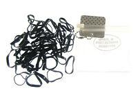 50 black Braiding Bands Small Polyurethane Mini Elastics Hair in purse (cdd
